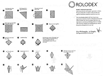 Rolodex Assembly Instructions