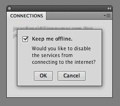 Keep me offline window